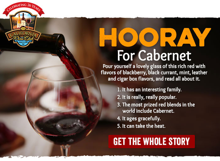 HOORAY for Cabernet!
