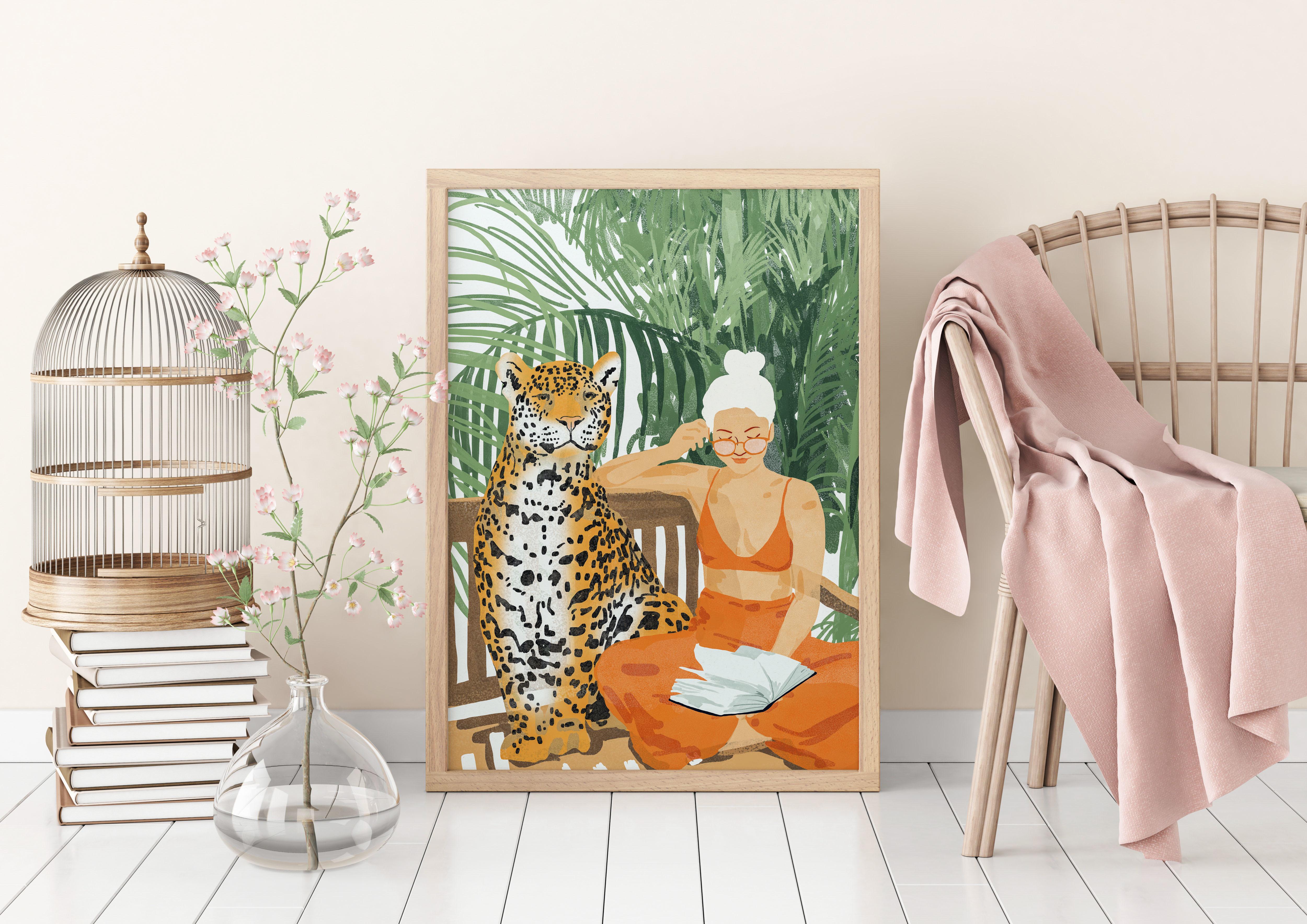 Personalised framed prints on Artwow: Jungle Vacay Ii by designer Uma Prabhakar Gokhale
