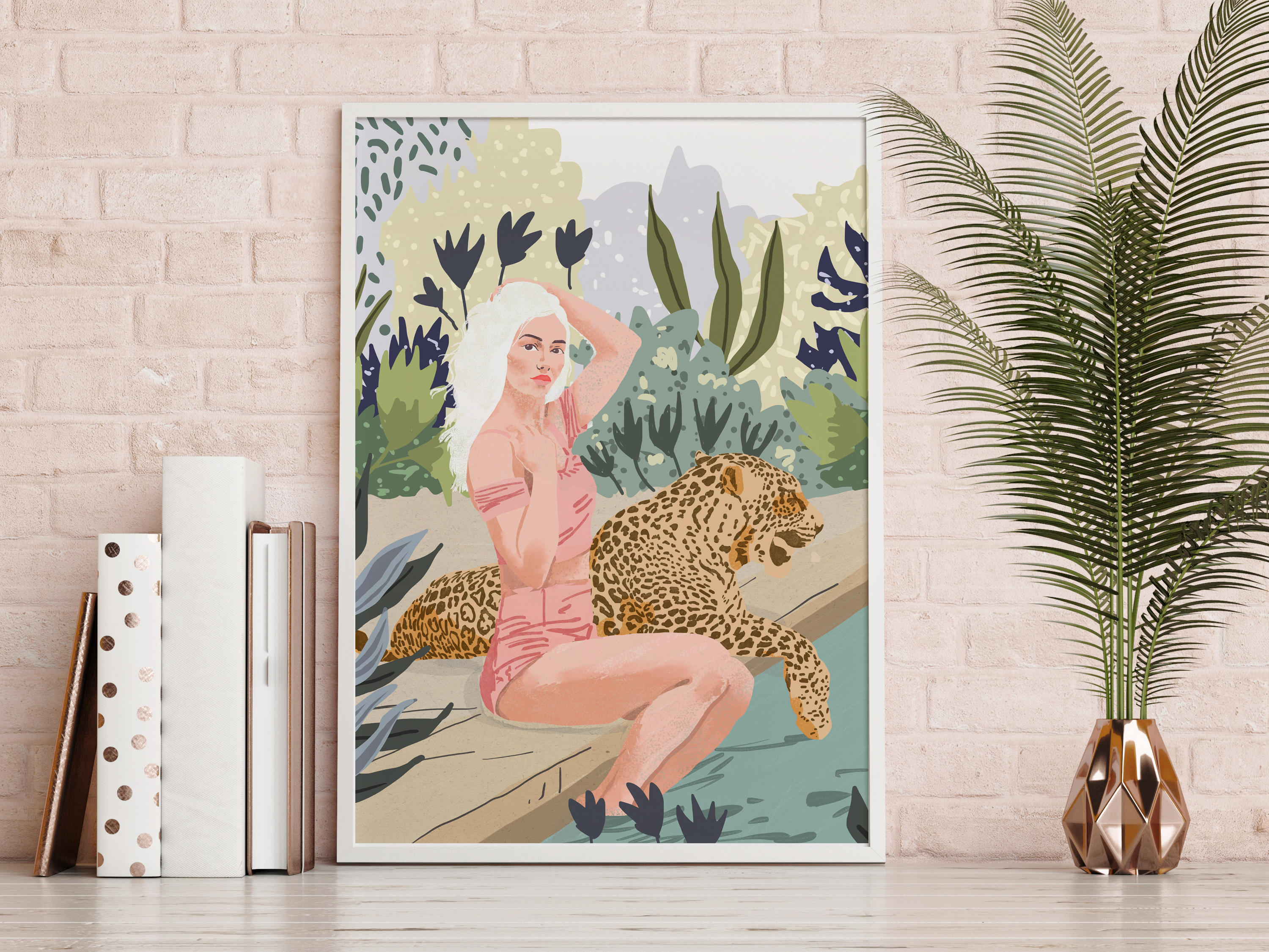 Personalised framed prints: How To Train Your Leopard by designer Uma Prabhakar Gokhale – buy on ArtWOW