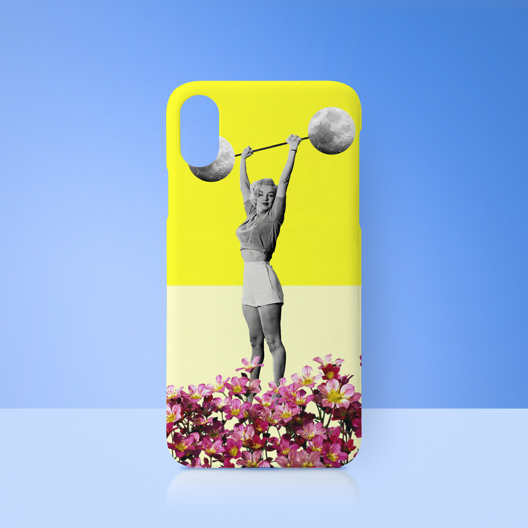 Personalised photo phone case: Give A Girl The Right Pair Of Shoes... by designer Prints Bymc