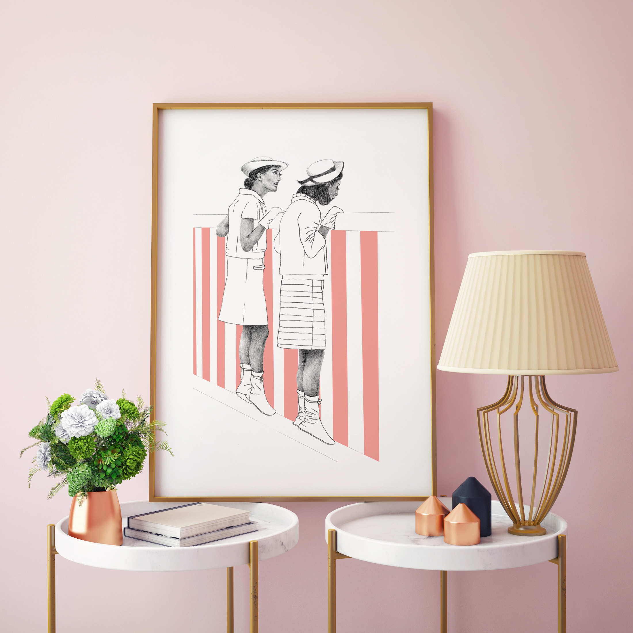 Personalised framed pictures on Artwow: 1950s Girls by designer Niamh Elizabeth Burden