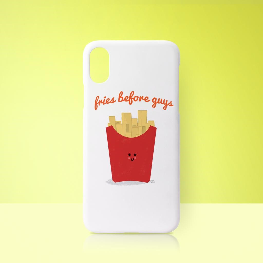 Buy Custom Made Phone Case On Art WOW: Fries Before Guys by Leeann Walker
