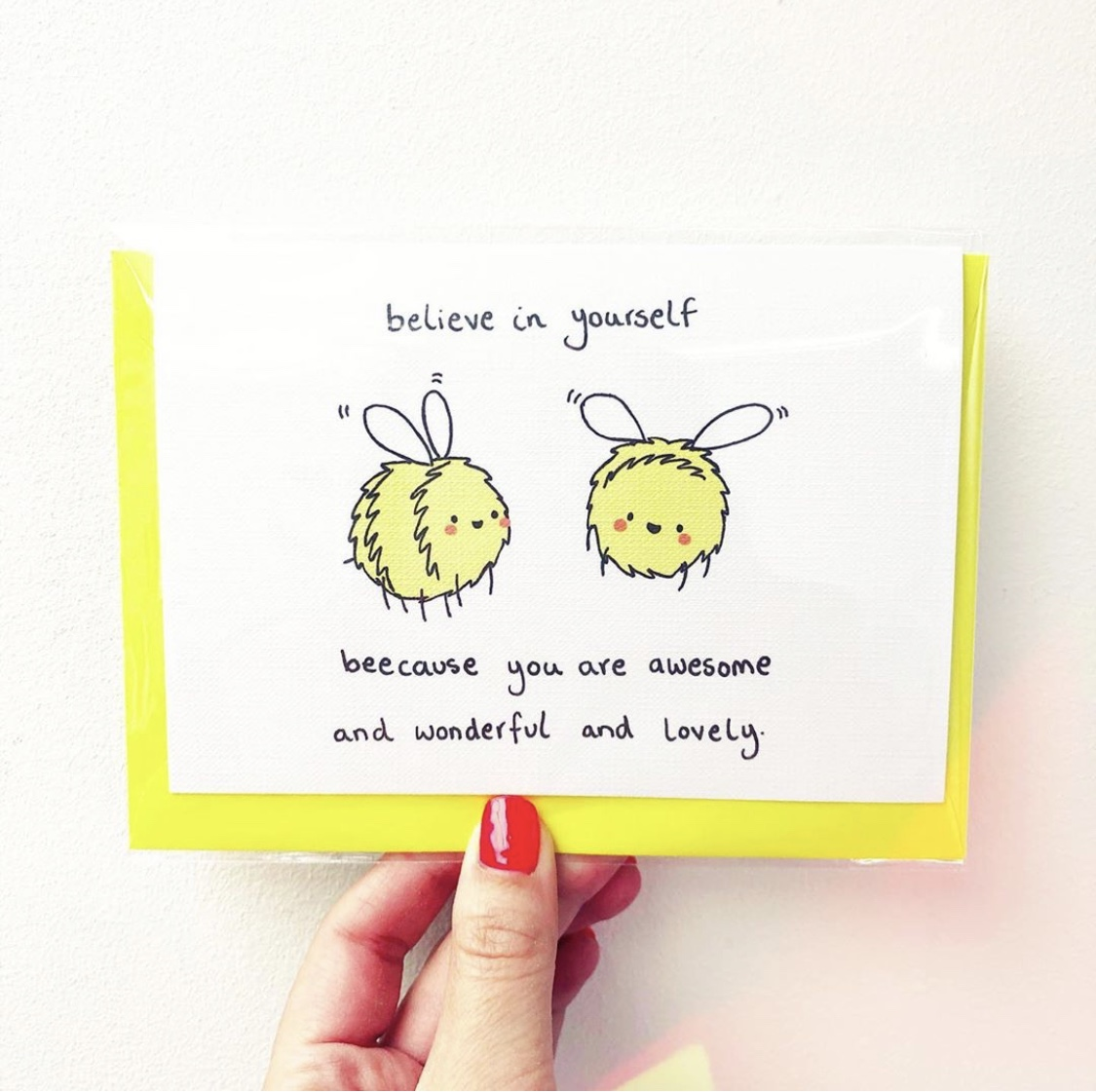 Personalised greeting cards on ArtWOW: BELIEVE IN YOURSELF by Ellie Bednall