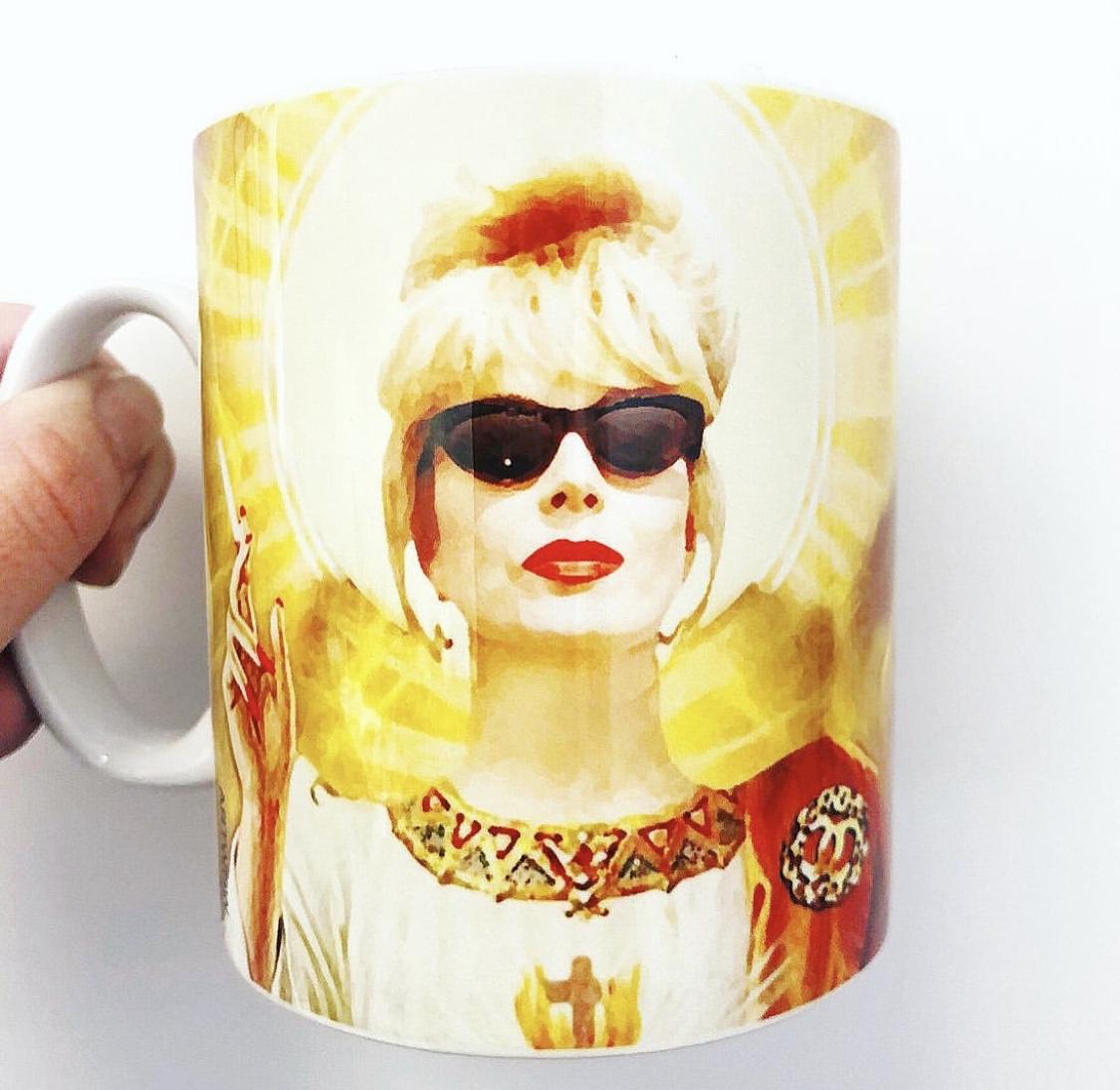 Photo print on mug: Patron Saint Of Fab – Patsy by designer Wallace Elizabeth – buy on ArtWOW