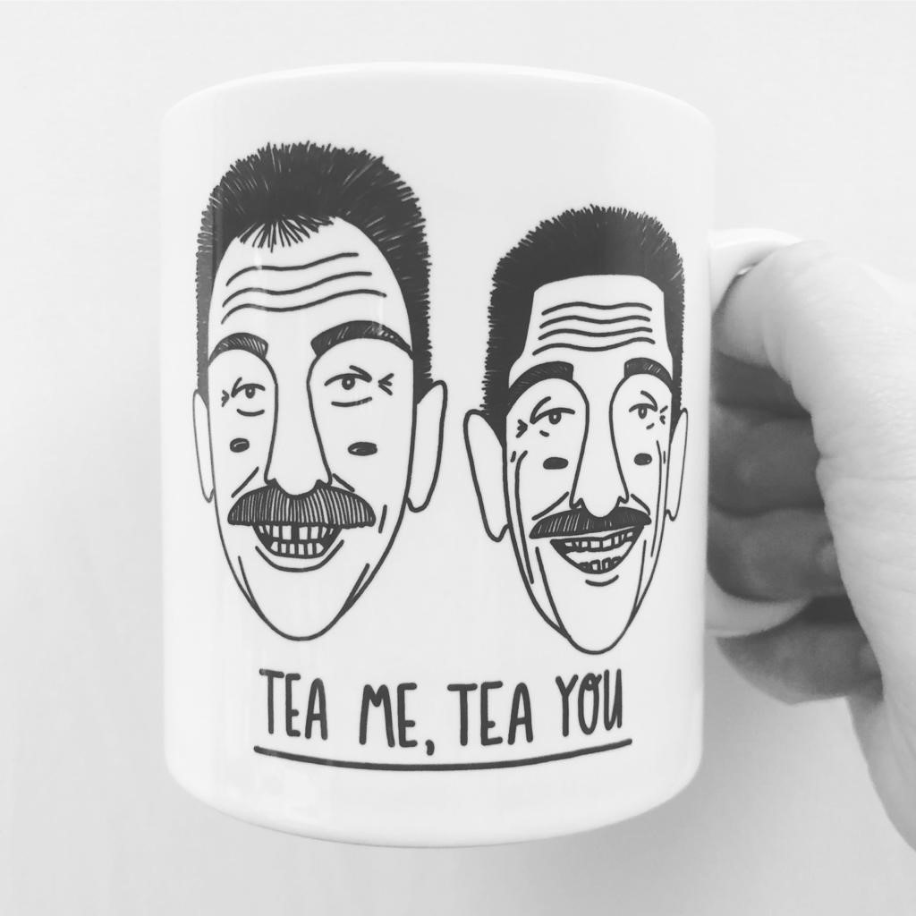 Custom Mugs UK on Art WOW Store: TEA ME, TEA YOU by Katie Ruby Miller