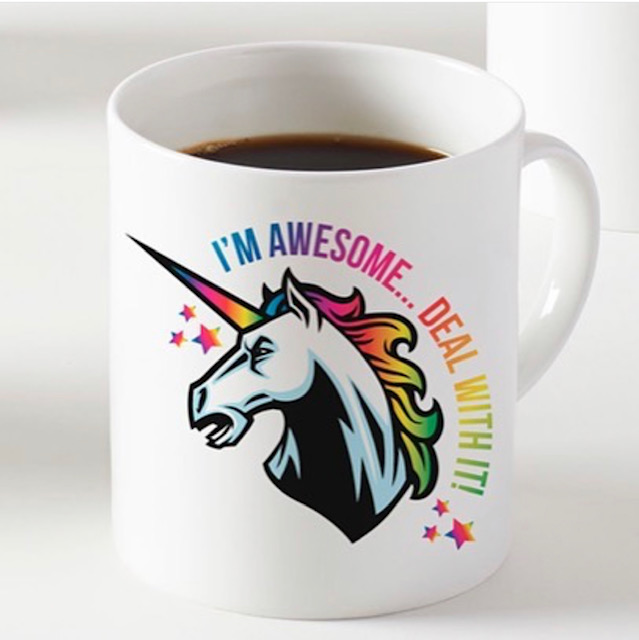 Photo print on mug: I'm Awesome.... Deal With It! by designer Suzanne Waters – buy on ArtWOW store