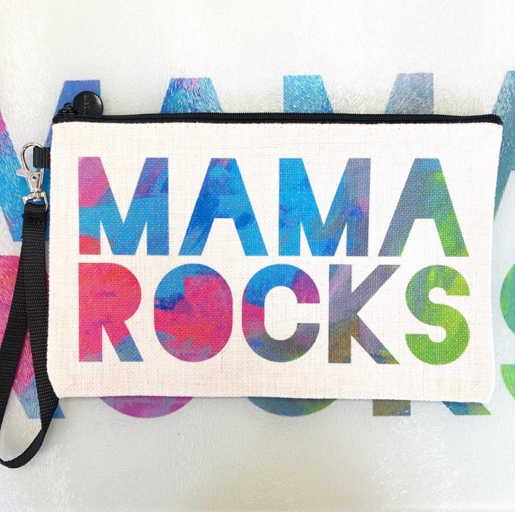 Unique makeup bags on ArtWOW: Mama Rocks – by designer Cassie Swindlehurst