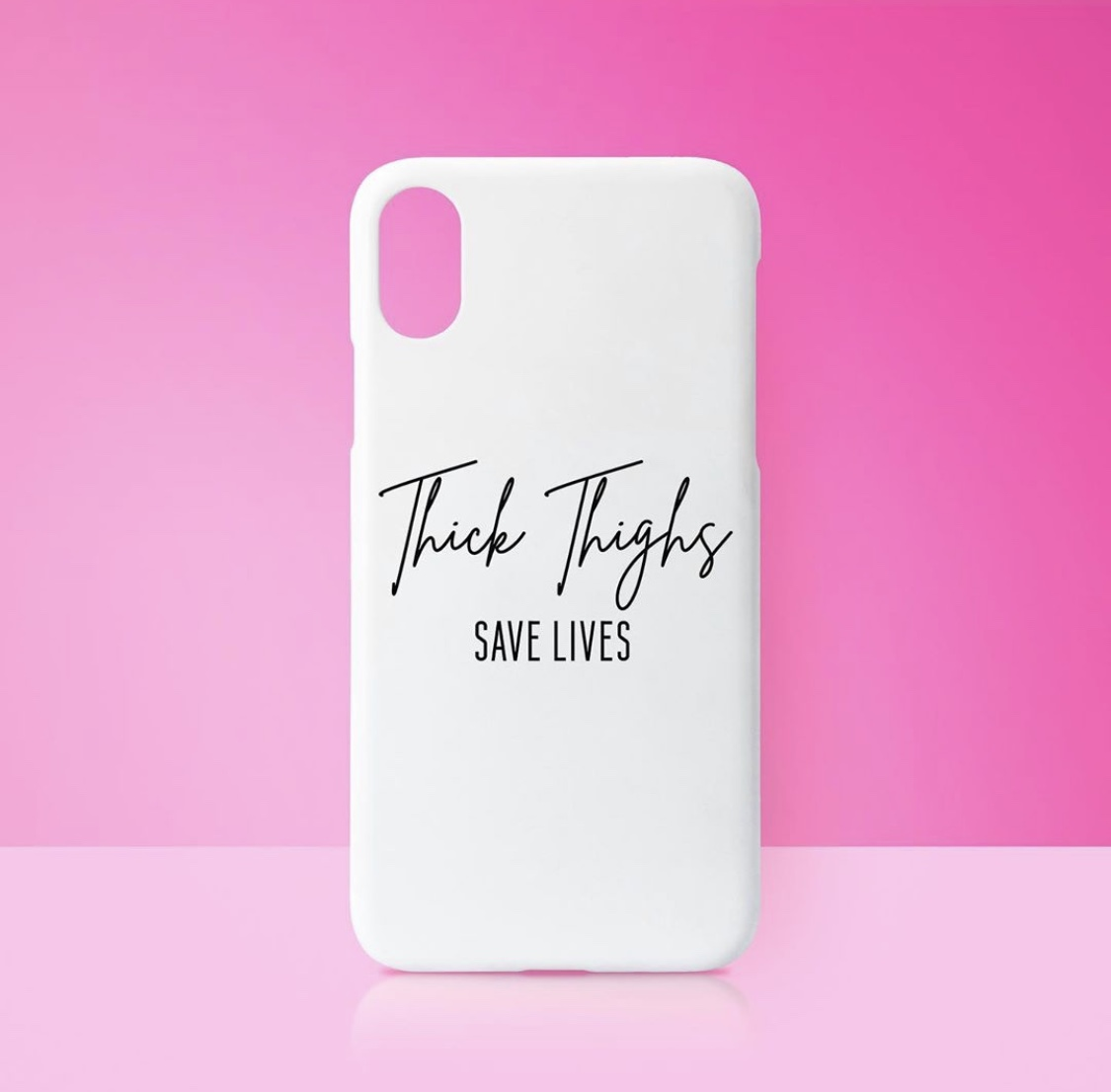 Personalised photo phone case on ARTWOW store: THICK THIGHS SAVE LIVES - by Sarah Talbot-Goldman