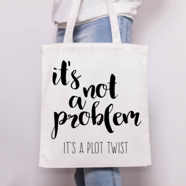 Custom tote bags UK on ArtWOW store: IT'S NOT A PROBLEM by Heidi Clawson