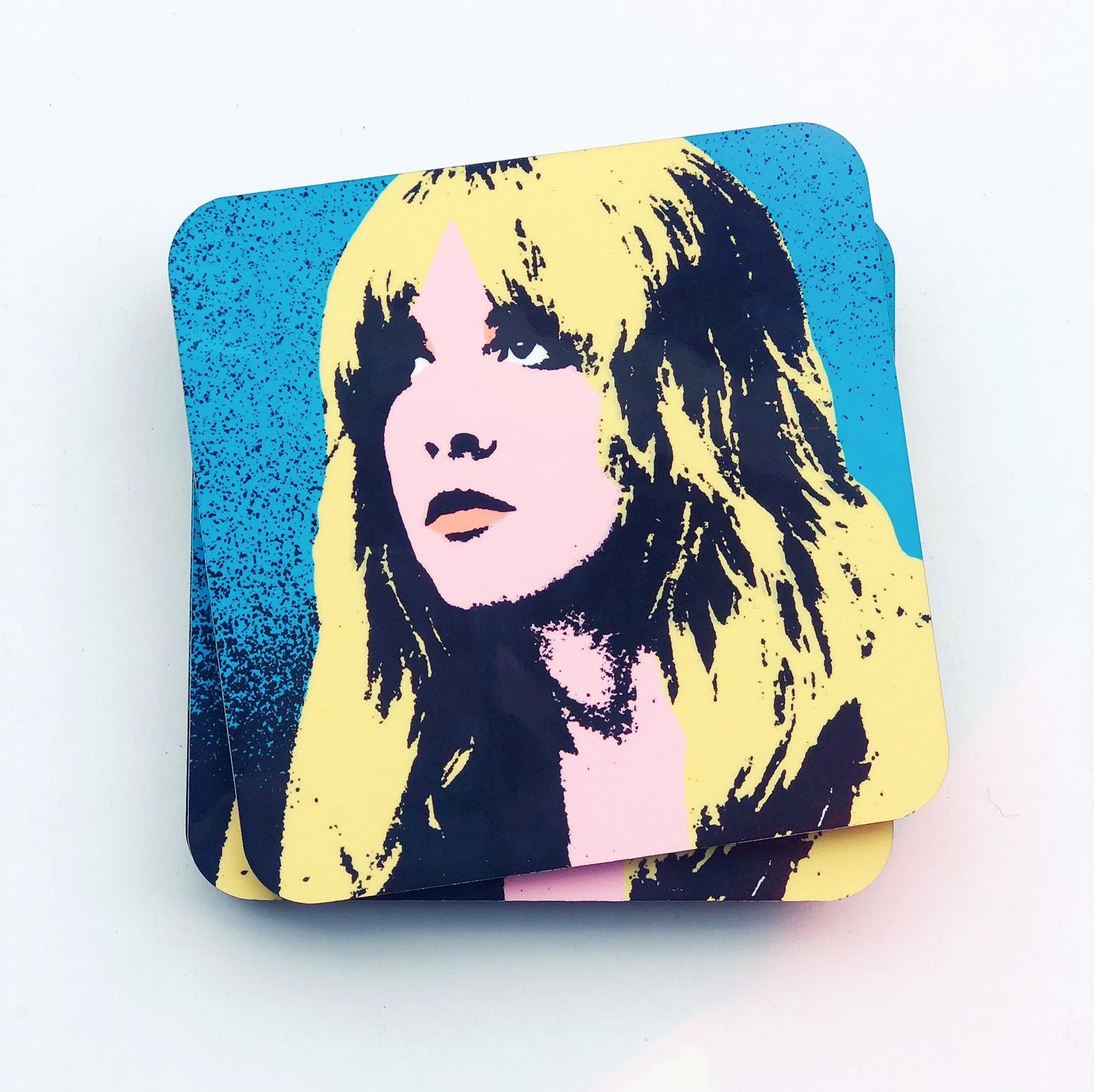 Custom coasters on Artwow store: Stevie by designer Wallace Elizabeth