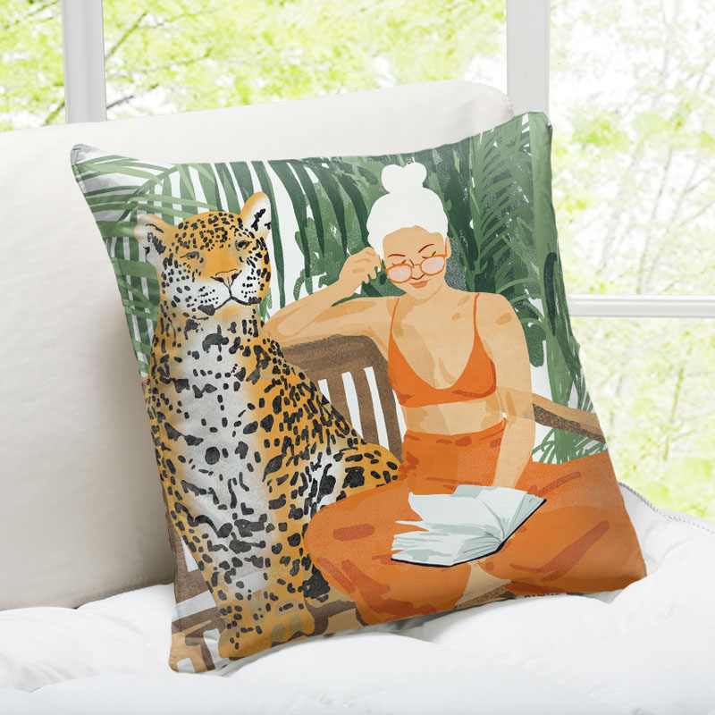 Personalised photo cushions on Artwow: Jungle Vacay Ii by designer Uma Prabhakar Gokhale