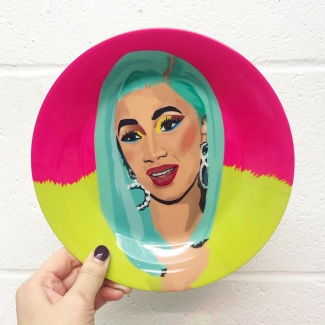 Buy cool dinner plates on Artwow: CARDI B by designer Sabi Koz