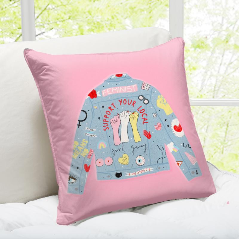 Designer cushions uk: Girl Gang by Tess Shearer – buy on Artwow
