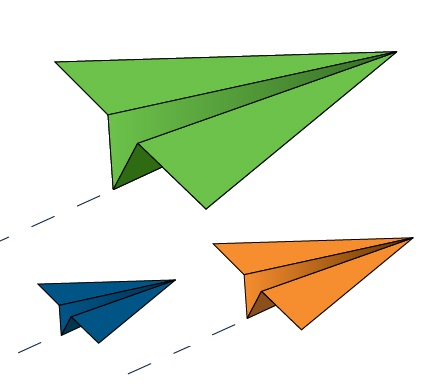 image of paper planes