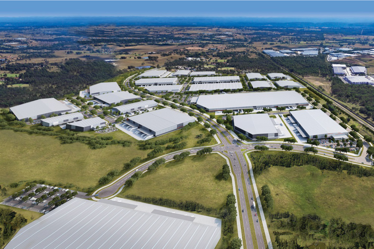 Artist impression of new proposed industrial estate