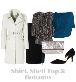 Ensemble: Shirt, Shell Top & Bottoms
