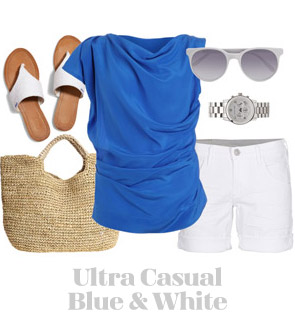 Ensemble: Ultra Casual Blue & White