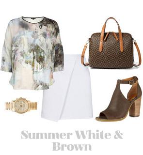 Ensemble: Summer White & Brown