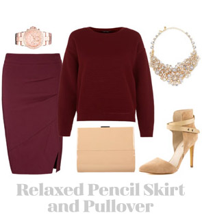 Ensemble: Relaxed Pencil Skirt and Pullover