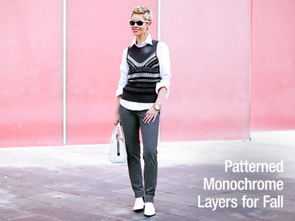 Patterned Monochrome Layers for Fall
