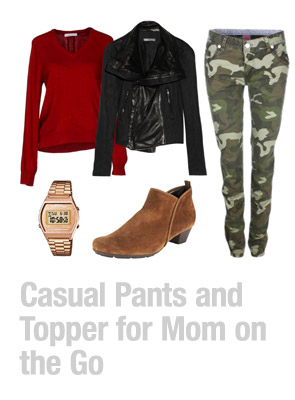 Ensemble: Casual Pants and Topper for Mom on the Go