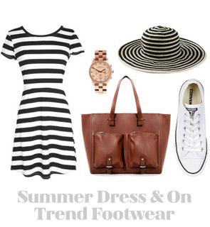 Ensemble: Casual Summer Dress & On Trend Footwear