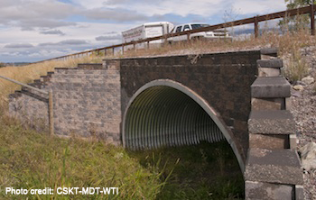 Wildlife crossing structure on US HWY 93, Flathead Reservation, Montana