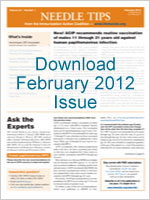 Download February 2012 Issue of Needle Tips