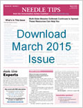 Download the March issue of Needle Tips