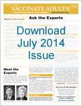 Download the July 2014 issue of Vaccinate Adults