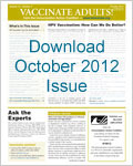 October 2012 issue of Vaccinate Adults