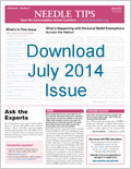 Download the July 2014 issue of Needle Tips