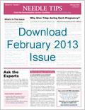 Download the February issue of Needle Tips