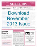 Download November issue of Needle Tips