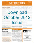 October 2012 issue of Needle Tips