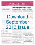 Download the September issue of Needle Tips