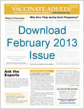 Download February 2013 issue of Vaccinate Adults