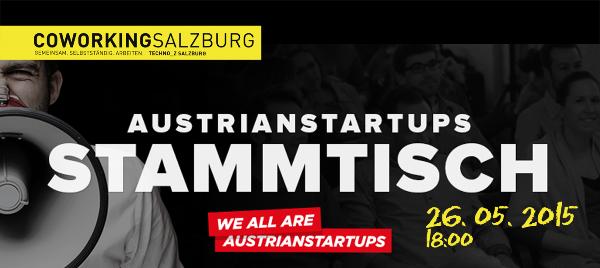 Einladung zum AUSTRIANSTARTUPS STAMMTISCH 26.5.2015
