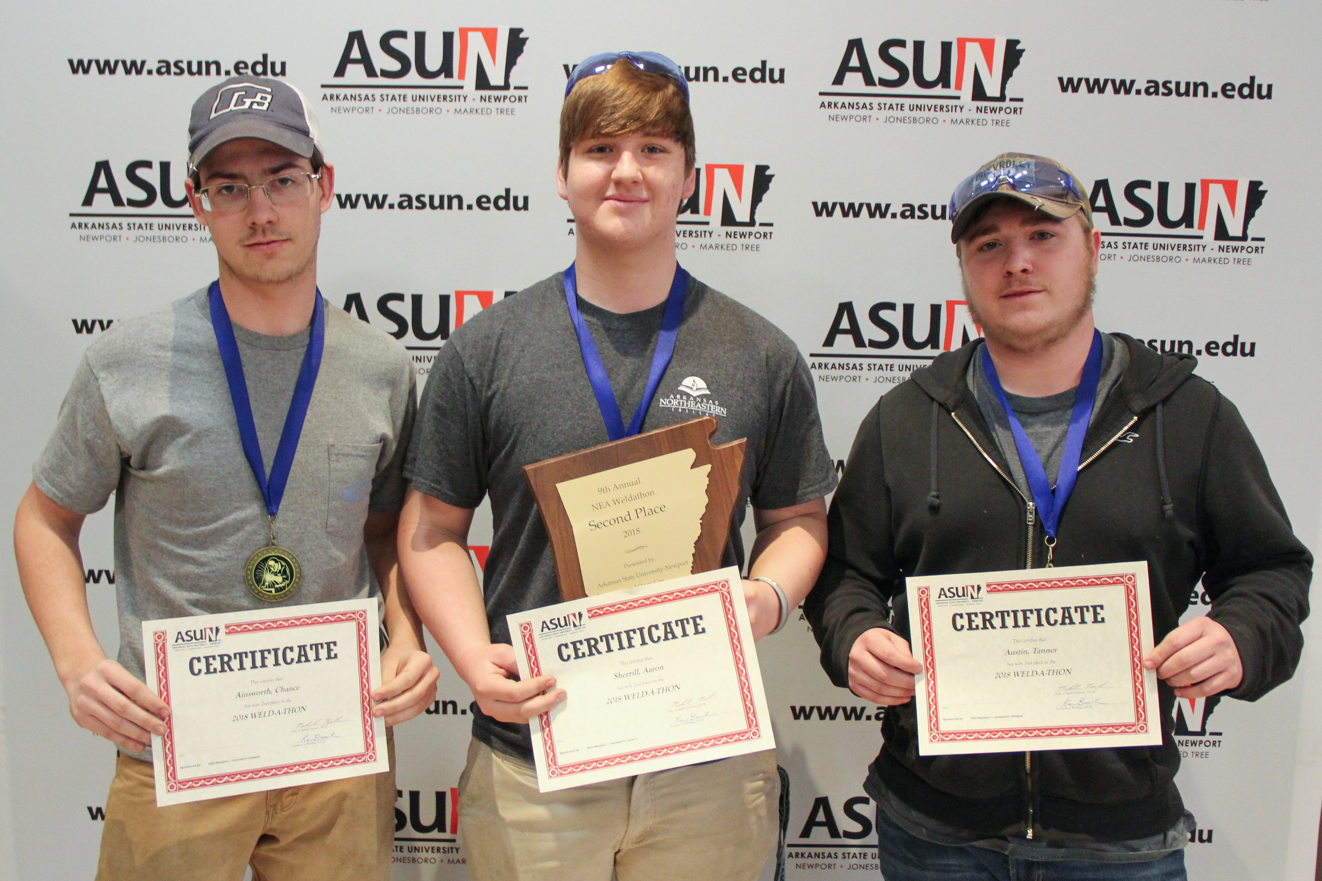 Image of Chance Ainsworth, Aaron Sherrill and Tanner Austin