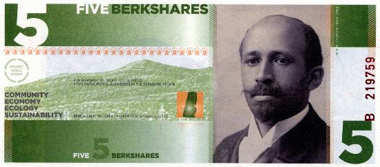 W. E. B. Du Bois - on the 5 BerkShare