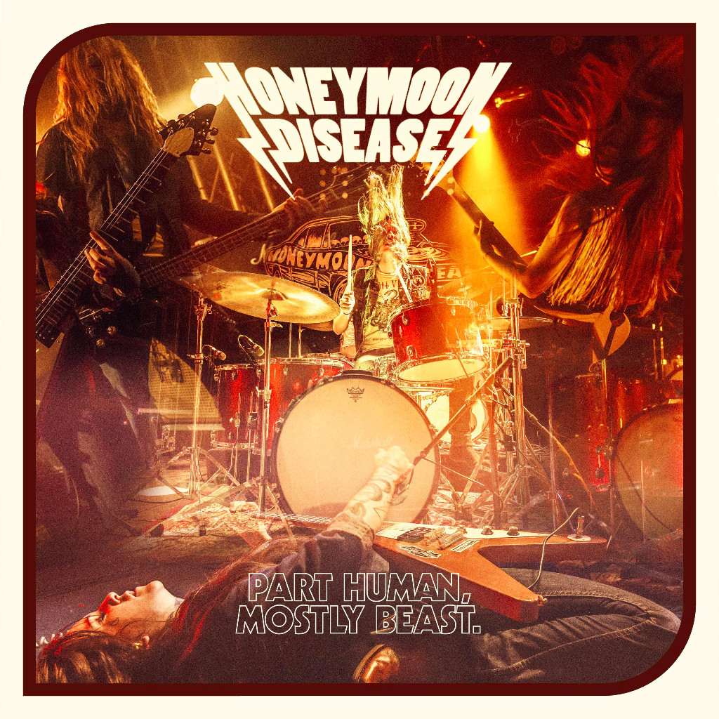 "Honeymoon Disease announces new album ""Part Human, Mostly Beast"" to be released 27th of October on The Sign Records"