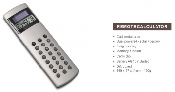 Click here to see the Remote calculator range