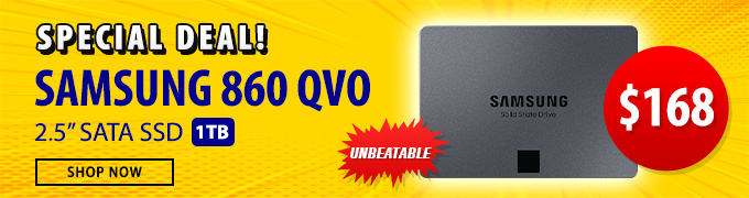 Samsung 860 QVO 1TB 2.5 Special Deal