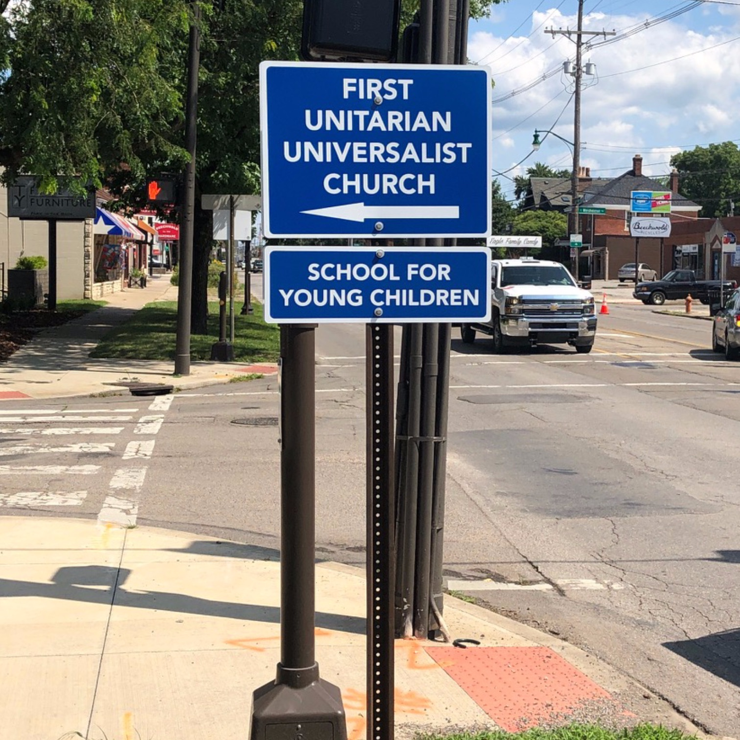 New sign at High and Weisheimer
