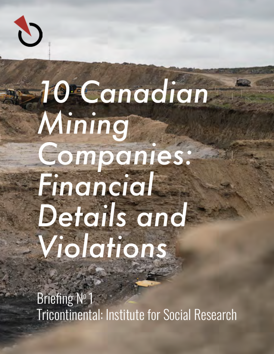 "Cover of the Report entitled, ""10 Canadian Mining Companies: Financial Details and Violations"""