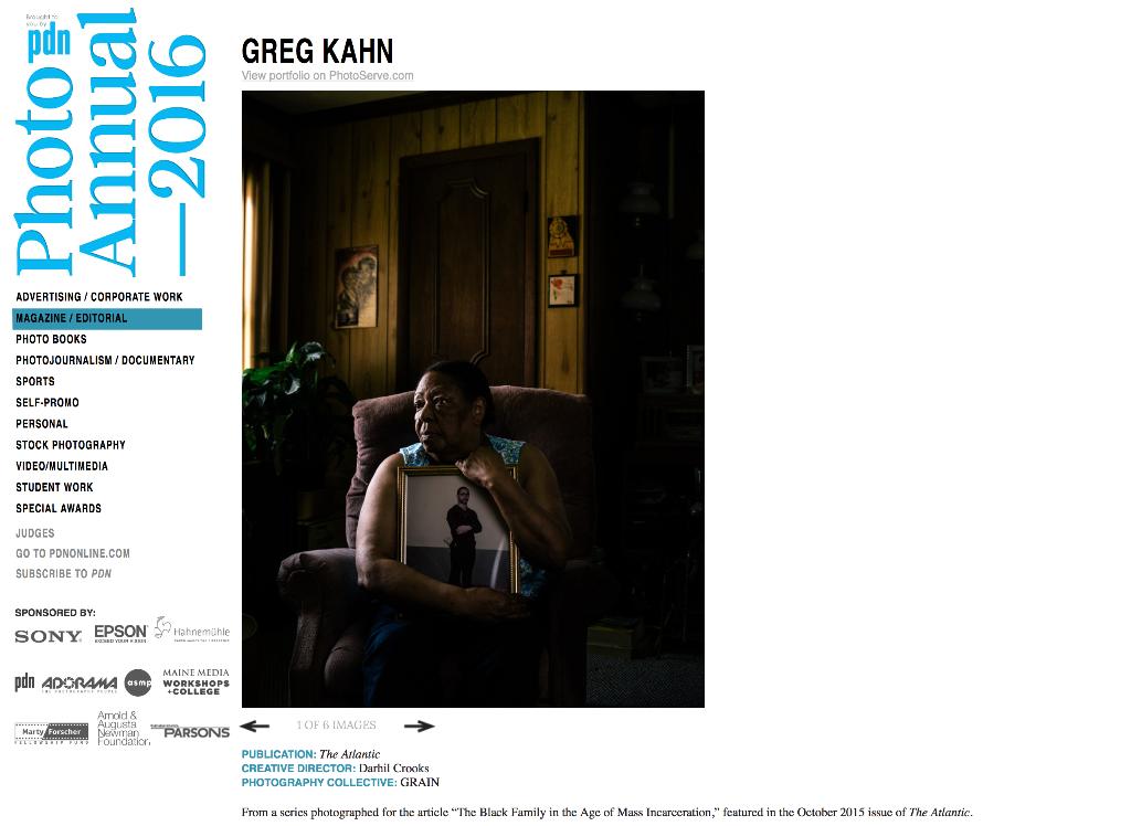 Greg Kahn in PDN Annual