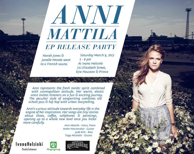 Anni Mattila EP Release Party
