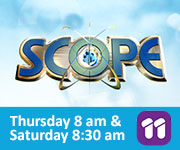 Scope ad: Thursday 8 am and Saturday 8:30 am on 11
