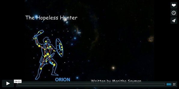 Screenshot of the constellation Orion.