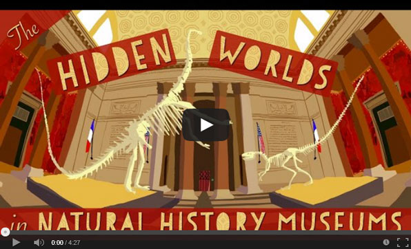 A screenshot from a video about museums.